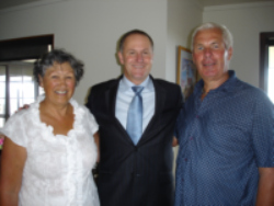 John Key at Chartre Manor